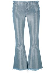 Marques Almeida Marques'almeida Metallic Sheen Cropped Jeans Women Cotton Polyester Rayon Xs