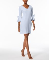 Jessica Howard Bell Sleeve Bow Detail Dress Created For Macy's Light Blue