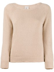 L'autre Chose Slim Fit Crew Neck Jumper Neutrals