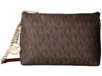 Michael Michael Kors Jet Set Chain Item Top Zip Messenger Brown Messenger Bags