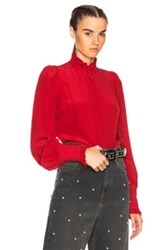 Isabel Marant Sloan Blouse In Red