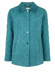 Eastex Classic Diamond Quilt Raincoat Turquoise