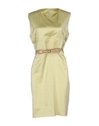 Galliano Dresses Short Dresses Women Light Green