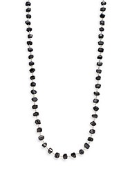 Stephen Dweck Classic Strand Black Agate And Sterling Silver Necklace