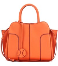Tod's Sella Small Leather Tote Orange