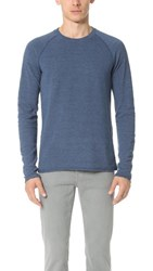 Splendid Mills Long Sleeve Crew Sweatshirt Coastal