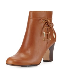 Taryn Rose Terrie Side Laced Leather Bootie Tan