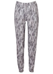 J. Lindeberg Nicole Feather Print Crepe Trousers Multicoloured