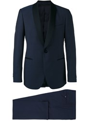 Lardini Shawl Lapel Two Piece Suit Blue