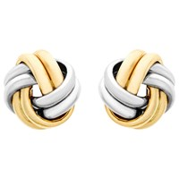 Ibb 9Ct Gold Small Knot Stud Earrings Gold
