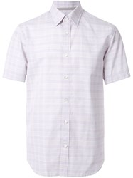 Gieves And Hawkes Check Short Sleeve Shirt Purple