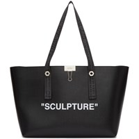 Off White Black Sculpture Shopping Tote