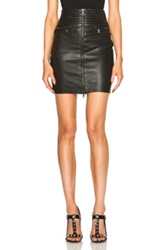 Unravel High Waisted Pleated Skirt In Black