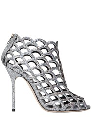 Sergio Rossi 105Mm Mermaid Leather Cage Sandals