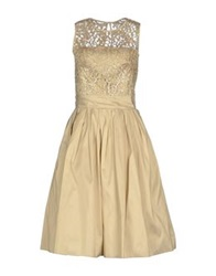 Bgn Knee Length Dresses Beige