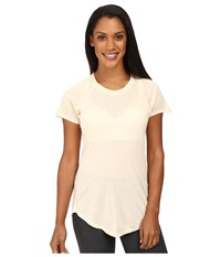 The North Face Nueva Short Sleeve Top Moonlight Ivory Heather Women's Short Sleeve Pullover White