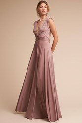 Anthropologie Ginger Convertible Maxi Wedding Guest Dress Lilac