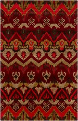 Chandra Rupec Patterned Rectangular Contemporary Area Rug 3 Red