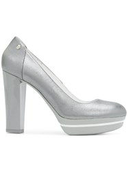 Hogan Platform Pumps Grey
