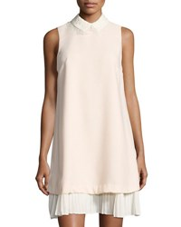 Nanette Nanette Lepore Pleated Hem Crepe Shift Dress Light Pink