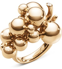 Georg Jensen Moonlight Grapes 18Ct Rose Gold And Diamond Ring