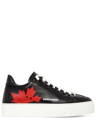 Dsquared 35Mm Canadian Team Leather Sneakers Black