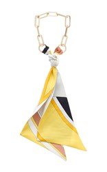Emilio Pucci Chain Necklace Yellow