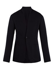 Kilgour Single Breasted Wool Blend Blazer Navy
