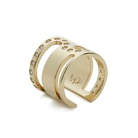 Maria Francesca Pepe Women's Orbital Cut Out Ring Gold
