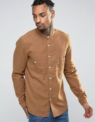 Asos Shirt With Two Pockets In Tan In Regular Fit Brown