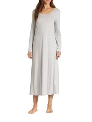 Hanro Tonight Long Sleeve Long Gown Feather Grey