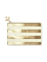 Kate Spade Gold Stripe Pencil Pouch Set