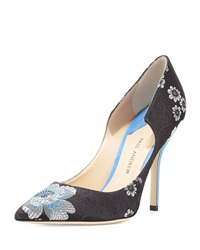 Paul Andrew Manhattan Floral Jacquard Pump Black
