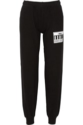 Brian Lichtenberg Homies Advisory Foiled Cotton Track Pants Black