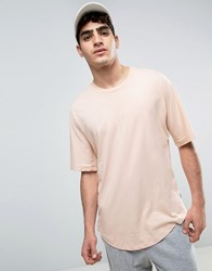 Kiomi Oversized T Shirt With Drop Shoulder Dusty Pink