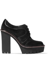 Marc By Marc Jacobs Suede Paneled Leather Pumps Black