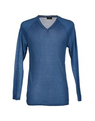 Lab. Pal Zileri Knitwear Jumpers Men Pastel Blue