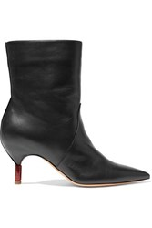 Gabriela Hearst Mariana Leather Ankle Boots Black