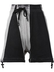 11 By Boris Bidjan Saberi Drawstring Drop Crotch Sweatshorts Black