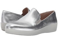 Fitflop Superskate Silver Women's Clog Mule Shoes