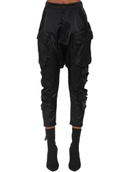 Unravel Wool Blend Satin Cargo Pants Black