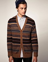 Wesc Thad Knitted Cardigan Brown
