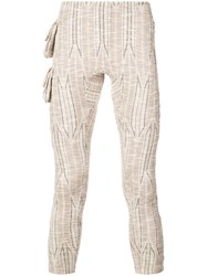 Cottweiler Printed Leggings With Side Pockets Nude And Neutrals