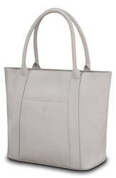 Vessel Signature 2.0 Large Faux Leather Tote Bag Beige Pebbled Stone