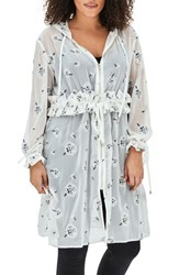 Elvi Plus Size Women's The Kari Embroidered Parka White