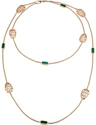 Bulgari Bvlgari Serpenti Seduttori 18Kt Pink Gold And Malachite Necklace