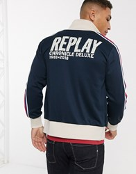 Replay Track Jacket Blue