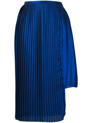 Each X Other Asymmetric Pleated Skirt Blue