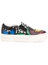 Ash Graphic Print Sneakers Black