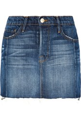 Frame Le Mini Mix Denim Skirt Mid Denim